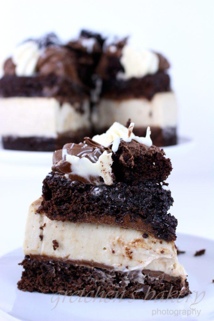 Vegan Brownie Cheesecake