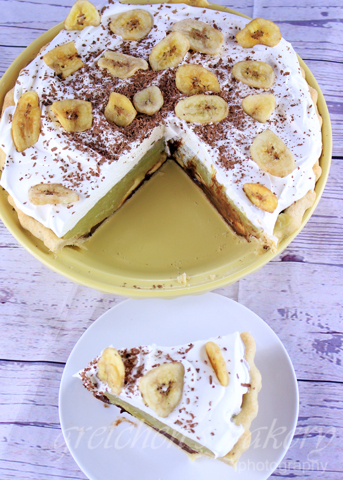 Black Bottom Banana Cream Pie~ VEGAN!